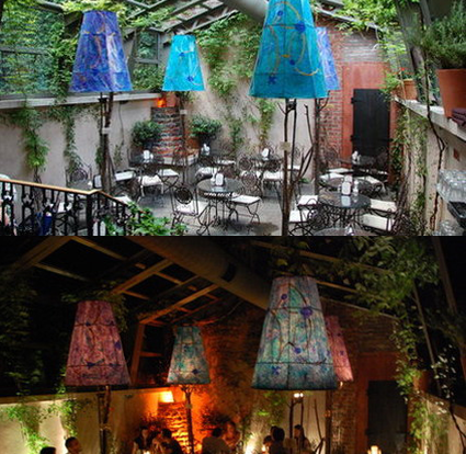Daytime and Nighttime Views of the The Garden Dining Area